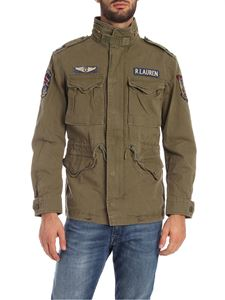 POLO Ralph Lauren - Patch field jacket in Military green color