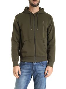 POLO Ralph Lauren - Logo embroidery hoodie in green