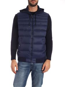 POLO Ralph Lauren - Down waistcoat with cotton hood and back