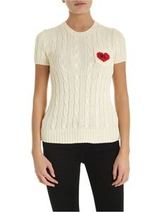 POLO Ralph Lauren - Short-sleeved pullover in cream color