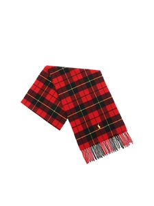 POLO Ralph Lauren - Tartan scarf in red