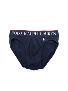 POLO Ralph Lauren - Logo embroidery briefs in blue