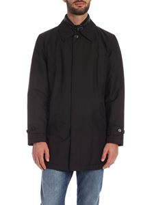 Fay - Double Front raincoat in black