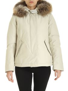 Woolrich - Short Arctic Parka down jacket in beige
