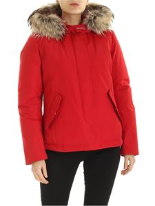 Woolrich - Short Arctic Parka in red