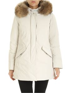 Woolrich - Arctic Luxury parka in cream color
