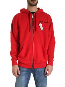 Palm Angels - Sweatshirt in red with anti-shoplifting pin