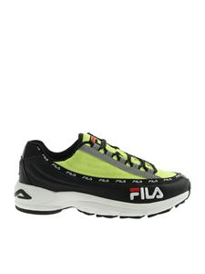 Fila - DSTR97 sneakers in black and  neon yellow
