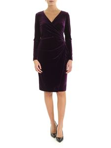 Ralph Lauren - Draped dress in purple