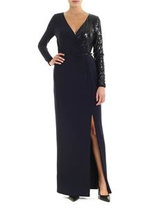 Ralph Lauren - Long blue dress in blue with top side sequins