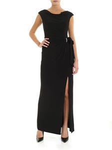 Ralph Lauren - Long dress in black with jewel detail