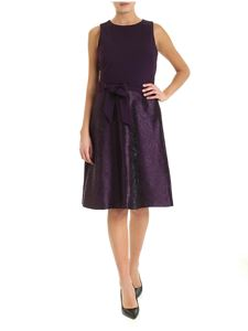 Ralph Lauren - Jacquard bottom dress in purple