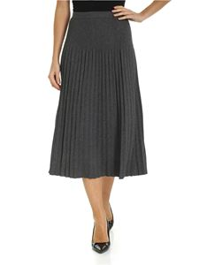 Michael Kors - Pleated midi skirt in dark gray