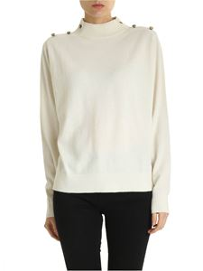 Michael Kors - Pullover a collo alto con bottoni decorativi