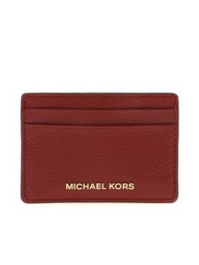 Michael Kors - Card holder with logo in burgundy