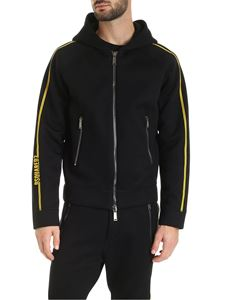 Dsquared2 - Sweatshirt in black with yellow stripes