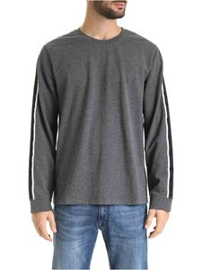 POLO Ralph Lauren - Melange gray T-shirt with bands on the sleeves