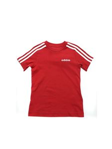 Adidas - Essential 3-Stripes T-shirt in burgundy