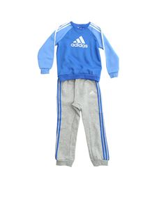 Adidas - Logo tracksuit in grey and blue