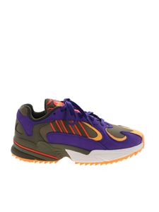 Adidas - Adidas Originals Yung-1 Trail sneakers in green and purple