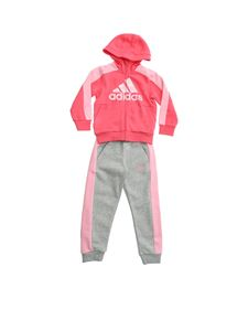 Adidas - Graphic tracksuit in pink and grey