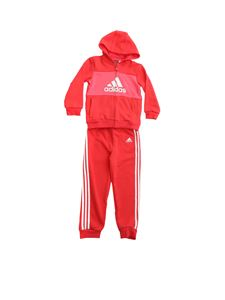 Adidas - Logo tracksuit in red and pink