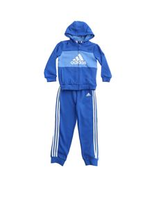 Adidas - Branded tracksuit in blue and light blue