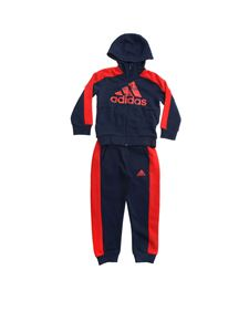 Adidas - Graphic tracksuit in blue and red