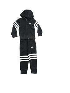 Adidas - 3-Stripes logo tracksuit in black