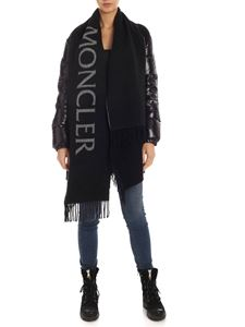Moncler - Maxi scarf logo in black and grey