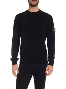 Stone Island - Cable knitted pullover in blue