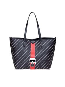 Karl Lagerfeld - K Stripe Ikonik tote in black