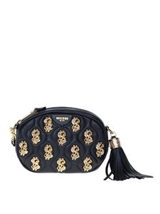 Moschino - Dollar Stud clutch bag in black