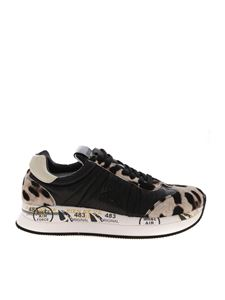 Premiata - Conny sneakers in black and animalier
