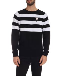 Karl Lagerfeld - Pullover in black and white with logo patch