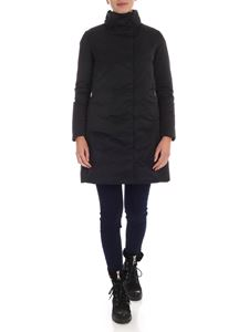 ADD - Stand collar down jacket in black