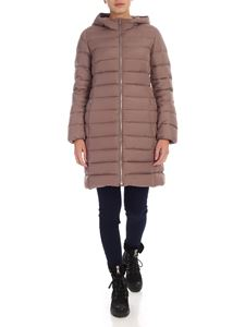 ADD - Long down jacket in mauve color