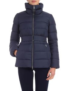 ADD - Belted down jacket in blue