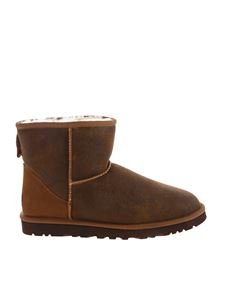 UGG Australia - Classic Mini Bomber ankle boots in brown