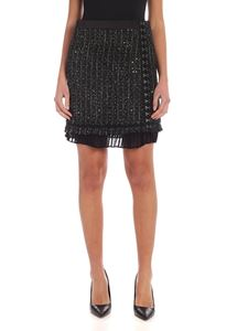 Karl Lagerfeld - Sparkle Bouclè skirt in black