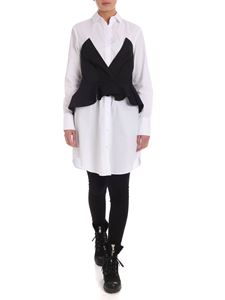 Karl Lagerfeld - Shirt dress in black and white poplin