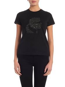 Karl Lagerfeld - Karl Bouclè t-shirt in black