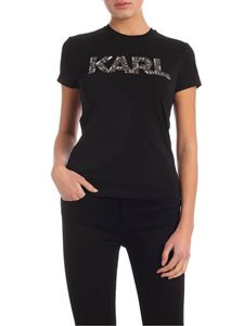 Karl Lagerfeld - Karl Oui T-shirt in black