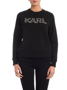 Karl Lagerfeld - Karl Oui crewneck sweatshirt in black
