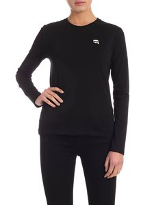 Karl Lagerfeld - Long sleeve Ikonik T-shirt in black