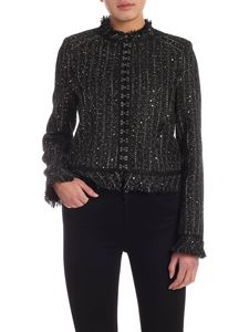 Karl Lagerfeld - Sparkle Bouclé jacket in black