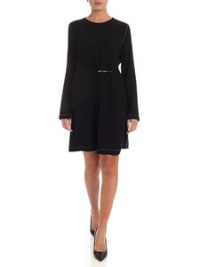 McQ Alexander Mcqueen - Dress in black with a safety pin