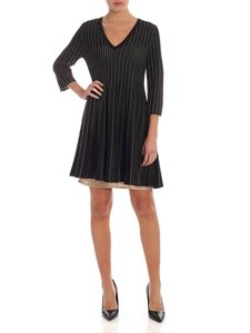 Twin-Set - Pleated dress in black