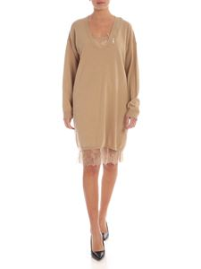 Twin-Set - Dress in camel-color with petticoat