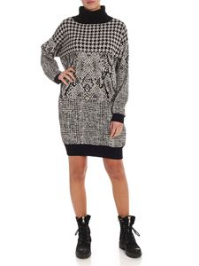 Twin-Set - Jacquard dress in black and ecru